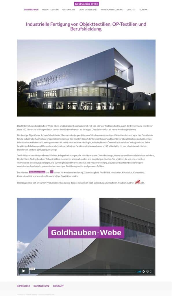 goldhauben webe website kl